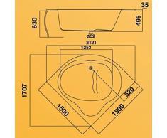 Eckbadewanne 150x150cm weiß Villeroy & Boch Unternehmensgruppe, FU15441000