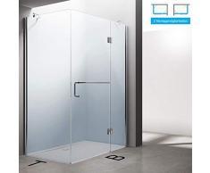 Sogood Eck-Duschkabine Eckdusche Rav04K 70x100x190cm Glasdusche ESG-Sicherheitsglas Klarglas inkl. Easy-Clean-Beschichtung
