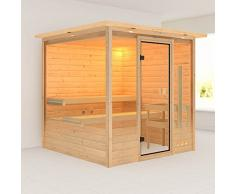 Karibu Massivholzsauna Kiruna 4 38 mm inkl. Saunafenster