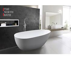 Freistehende Badewanne The North Bath LOKI 150x75 cm Acryl Oval