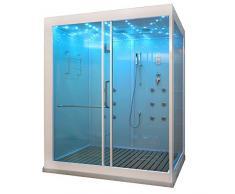 Home Deluxe - Duschkabine - Design XL - Maße: 180 x 130 x 220 cm - inkl. Dampfdusche