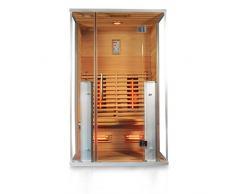 InfrarotkabineAthen, rotes Zedernholz, Wärmekabine, Sauna, Infrarotsauna, Infrarotwärmekabine