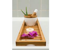 schöne große Badewannenablage 80cm x 18cm, Badewannenbrett, Badewannenauflage, Badewannenaufsatz aus Bambus