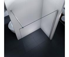 Duschwand Walk in Duschabtrennung Dusche Glasscheibe Seitenwand Diwa Clear 10mm ESG-Sicherheitsglas Klarglas 160 x 200 cm