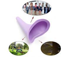 Frauenurinal Urinal für Frauen für sicheres Urinieren im Stehen oder Hocken, ,wiederverwendbar und tragbar, ideal für unterwegs wie Camping, Reisen, Wandern,Bergsteigen,4 Stück (Lila)