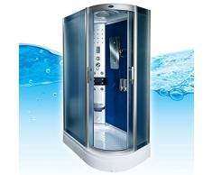 AcquaVapore DTP8060-7213R Dusche Dampfdusche Duschtempel Duschkabine -Th. 80x120, EasyClean Versiegelung der Scheiben:2K Scheiben Versiegelung +89.-EUR