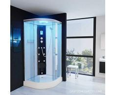 Dampfdusche 90x90 Regendusche Duschkabine mit LED Massagedüsen Duschhimmel