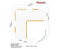 Infrarotkabine / Sauna Infrarot Infraplus 3 Design