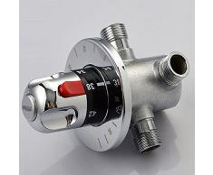 Verkauf echten < 130 mm Lanos Badewanne Wasserhahn verdeckter Dusche Raum Dampf für Thermostat mischen Ventil Wasserhahn Temperatur Kontrolle