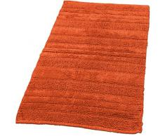 Badematten Badezimmermatte Badteppiche Baumwolle in Uni versch. Farben u. Größen, Grösse:60x100 cm;Farbe:Orange