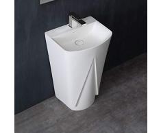 STONEART Standwaschbecken LZ501 weiß/51x43cm/matt