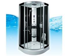 AcquaVapore DTP8058-6303 Dusche Dampfdusche Duschtempel Duschkabine -Th. 100 XL, EasyClean Versiegelung:JA mit 2K Scheiben Versiegelung