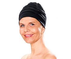 Fashy Badehaube aus Polyester, Turban schwarz Schwarz