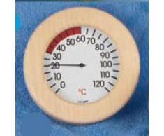 Thermometer für Infrarotsauna / Wärmekabine in Holzrahmen rund