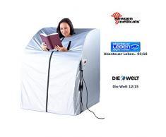 newgen medicals Mini Infrarotkabine: Portable Premium Infrarot-Sauna V2 mit 2 Heizern, 1600 Watt (Infrarot Saunen)