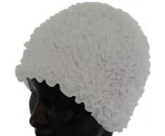 Fashy Damen Badehaube Rüschen, weiß, 3448