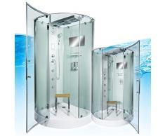 AcquaVapore DTP6037-1002 Dusche Dampfdusche Duschtempel Duschkabine 90x90, EasyClean Versiegelung der Scheiben:2K Scheiben Versiegelung +99.-EUR