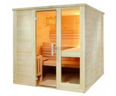 Komfort Large 208x206x204cm Saunakabine Fichtenkabine mit Linden-Einrichtung ohne Technik