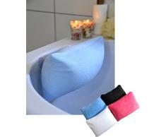 Luxus Badewannenkissen Farbe: pink mit Saugnäpfen Badewannen Kissen Nackenkissen mit Microperlen