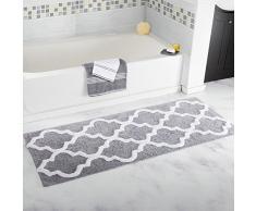 Homcomoda Rutschfeste Badteppiche Mikrofaser Badematte Absorbent Badvorleger für Badezimmer Öko-Tex 100 zertifiziert Duschvorleger Küchenbodenmatten ( 53cm x 86cm, Grey )