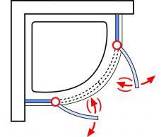 Schulte EP83606 41 500 01 Duschkabine Garant Runddusche Bella Lux II, 90 x 90 cm, 200 cm, Radius 550 mm, 6 mm Sicherheitsglas Klar hell fixil beschichtet, chromoptik