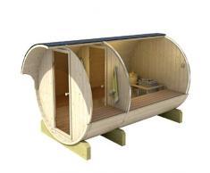 Serenedipity Bazar Sauna Fass 330 finnische Sauna Form Barrel Sauna Outdoor