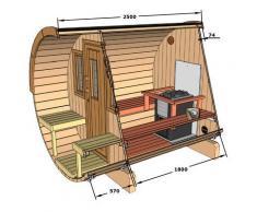 Serenedipity Bazar Sauna Fass 250 finnische Sauna Form Barrel Sauna Outdoor