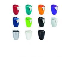 Wenko 21772100 Hocker Candy Badhocker, mit Abnehmbarem Wäschesack, Kunststoff - ABS, 36 x 50,5 x 36 cm, Silber