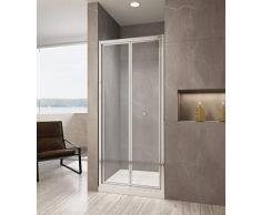 80cm Duschwand Duschabtrennung faltbar Falttür Duschtür Nischentür 5mm ESG Glas Höhe 190cm