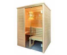 Alaska Sauna MINI Saunakabine Fichtenkabine mit Linden-Einrichtung 160x110x204cm ohne Technik