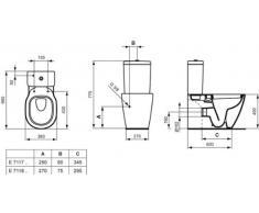 Ideal Standard Connect Stand-WC für Kombination mit aufgesetztem Spülkasten