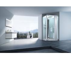 Dampfdusche Pisa Weiß Dampf Dusche, Duschkabine, Dampfbad, Duschtempel, Duschkabinett