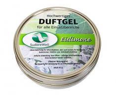 SudoreWell Duftgel Eislimone für Sauna, Infrarotkabine und Badezimmer, 80g Dose