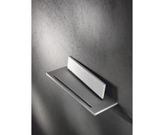 Keuco 11559170000 Duschablage Edition 400 mit Glasabzieher, Alu / silber eloxiert / weiß
