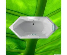 Badewanne 180x80 MALTA - Acryl 6-Eck-Badewanne