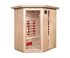 Home Deluxe – Infrarotkabine – Redsun XL – Keramikstrahler– Holz: Hemlocktanne - Maße: 155 x 120 x 190 cm – inkl. vielen Extras und komplettem Zubehör