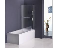 140x120cm Duschabtrennung Badewannenfaltwand Duschwand Badewannenaufsatz(1200V2S-HC)