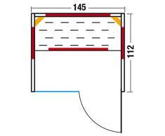 Infraworld Fusion Glas 145 Fichte Infrarotkabine Größe 145x112 cm 390145