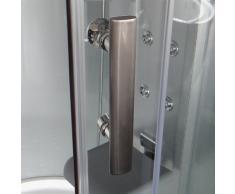 EAGO Dampfdusche DA324HF3 silber/150x150