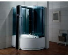 Dampfdusche/Wellnessdusche WS126 1500 x 1000 x 2300mm Rückwandfarbe: weiss, Version links
