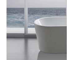 perfect-spa Freistehende Badewanne Madrid Wanne inkl. Ab- und Überlauf