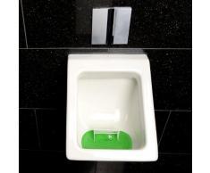 PEARL Urinalsieb: Lustiges Fußball-Urinal-Sieb, 18,5 x 19,5 cm, universell passend (Urinal Torwand)