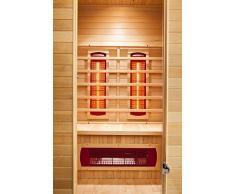 GARDENho.me Infrarotkabine Nova Wärmekabine Infrarotkabine Canadian Hemlock Holz