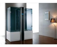 Dampfdusche/Wellnessdusche APHRODITE WS127 1700 x 900 x 2260mm Rückwandfarbe: schwarz