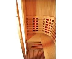 Infrarotkabine Lanzarote Infrarot Sauna in Hemlock für bis zu 3 Personen Wärmekabine Infrarotsauna