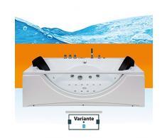 Whirlpool Pool Badewanne Eckwanne Wanne A1821H-B-ALL 180x90cm Reinigungsfunktion, Selfclean:aktive Schlauch-Reinigung +90.-EUR