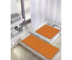 Meusch 4388488002 Duscheinlage Foot, 55 x 55 cm, orange