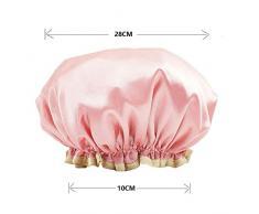 3er-Pack Duschhaube aus Mikrofaser Badekappe - Duschhaube Entworfen für Frauen und Mädchen Wasserdichte Kappen Wiederverwendbares Doppelschicht-Badzubehör