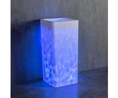 Standwaschbecken COLLINS aus Mineralguss in Weiß - mit LED-Beleuchtung - 39,5 x 39,5 x 85 cm