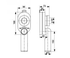 profizeug24® Urinal Ablauf Urinal Siphon Absaug Sifon NEU